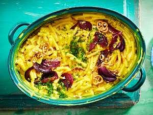 """Freudeverbreitende """"Macarena""""-Makkaroni & Cheese Rezept"""