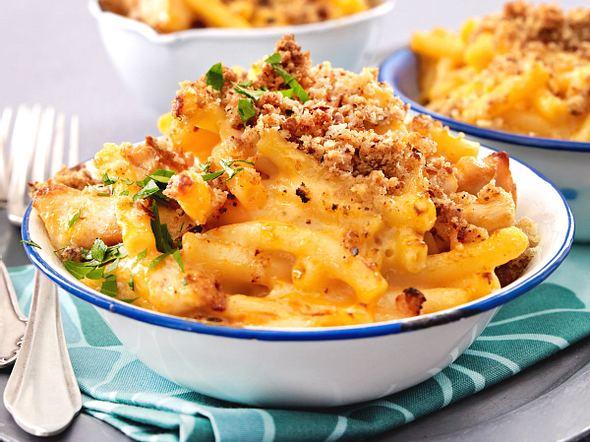 Macaroni & Cheese mit Hähnchen Rezept