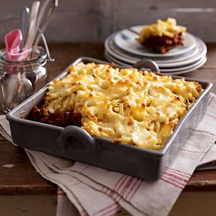 Macaroni & Cheese mit Bolognese Rezept