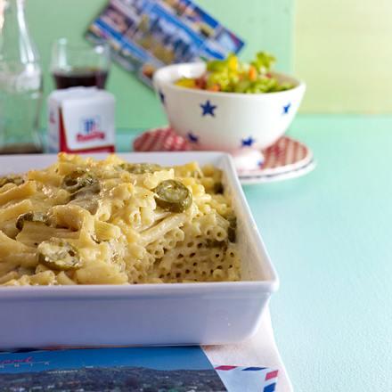 Macaroni & Cheese mit Jalapeños Rezept