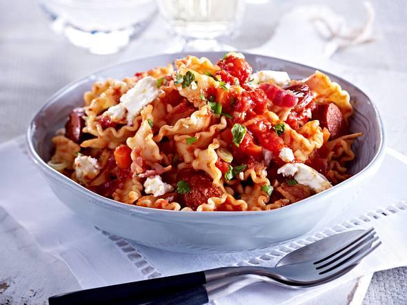 Mafaldine mit Chorizo & Feta Rezept