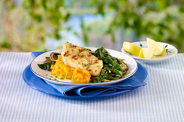 Mahi Mahi served with Yam Puree Rezept