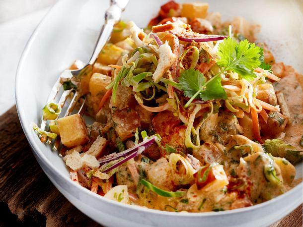 Mairübchen-Curry mit Knusper-Joghurt-Salat Rezept