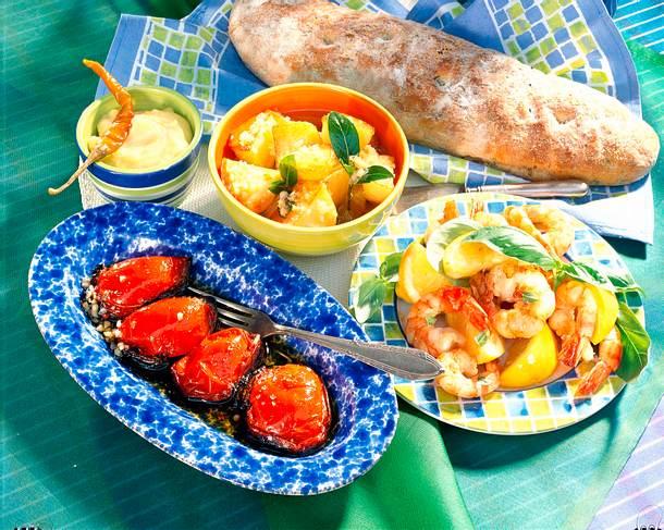 Mais-Kräuter-Brot mit allerlei Rezept