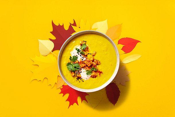 Mais-Kurkuma-Kartoffel-Suppe Rezept