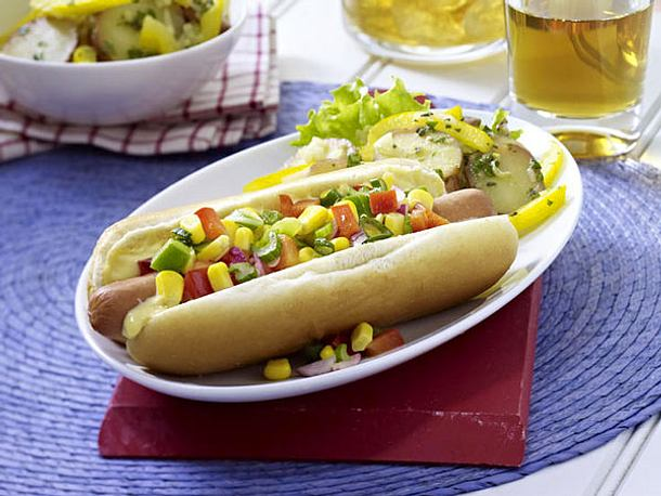 Olympia-Party - Partysnacks aus aller Welt - mais-relish-hot-dogs