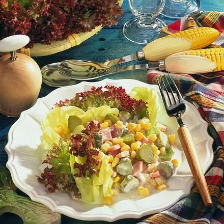 Mais-Schinken-Salat Rezept