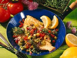 Maischolle mit Schmorgemüse Rezept