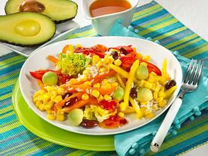 Maissalat mit Reis und Avocado Rezept