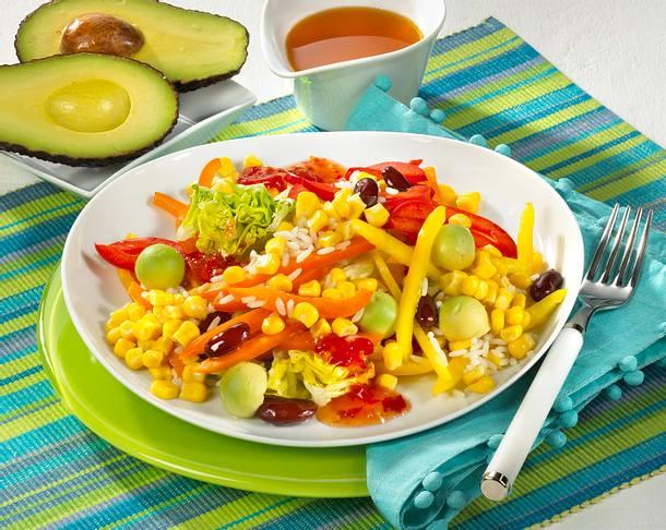 maissalat mit reis und avocado rezept chefkoch rezepte auf kochen backen und. Black Bedroom Furniture Sets. Home Design Ideas