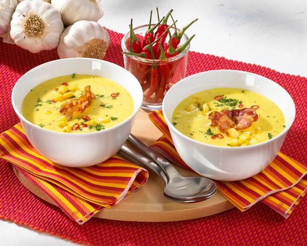 Maissuppe mit Speck Rezept