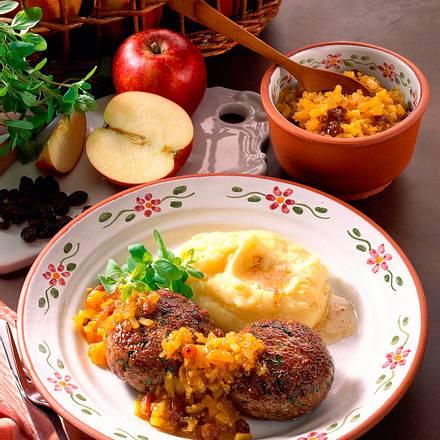 Majoran-Frikadellen mit Apfel-Zwiebel Chutney Rezept