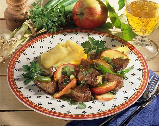 Majoran-Leber mit Kartoffelpüree Rezept