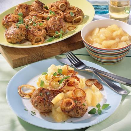 Majoran-Mett-Frikadellen zu Kartoffelpüree Rezept