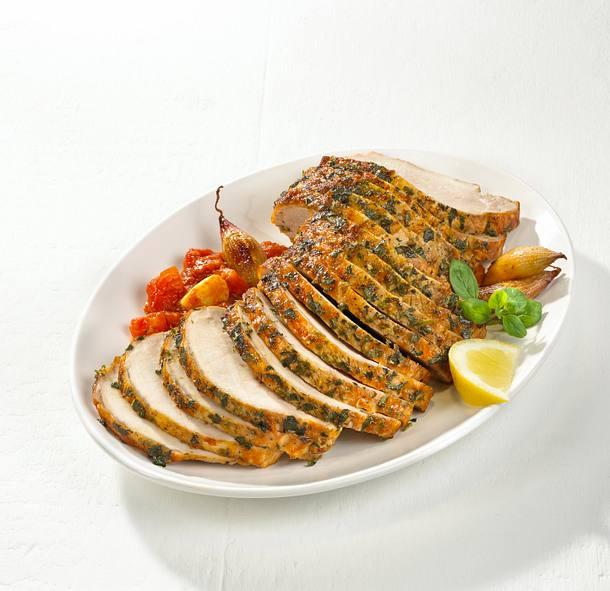 Majoran-Schweinebraten im Tomatensugo Rezept