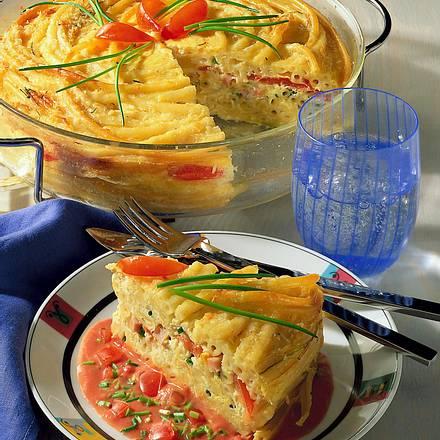 Makkaroni-Auflauf mit Tomatensoße Rezept