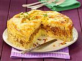 Makkaroni-Hack-Torte Rezept