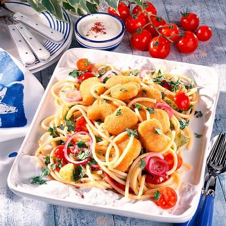 Makkaroni-Salat mit Geflügeldippers Rezept