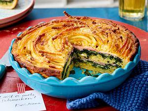 Makkaroni-Schinken-Torte Rezept