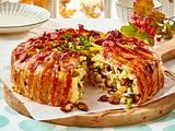Makkaroni-Torte mit Champignons Rezept