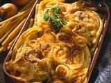 Makkaroni-Wirsing-Auflauf mit Zwiebel-Bechamel-Soße Rezept