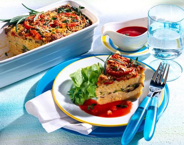 Makkaroniauflauf mit Tomatensoße Rezept