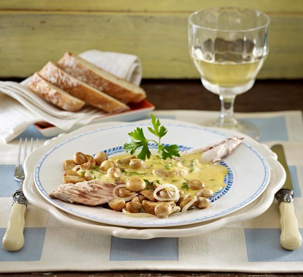 Makrelen mit Senfsoße Rezept