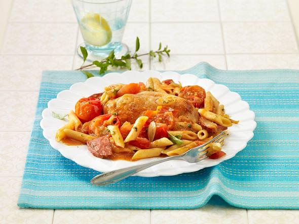 Mallorquinische Tomaten-Schnitzelpfanne Rezept