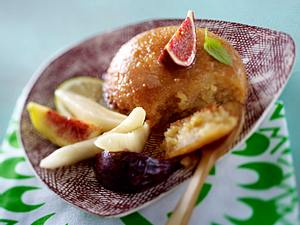 Malva Pudding mit Birnen-Feigen-Salat Rezept