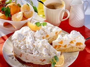 Mandarinen-Fanta-Torte mit Baiserboden Rezept