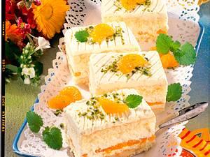 Mandarinen-Frischkäse-Schnitten Rezept