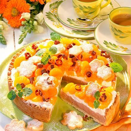 Mandarinen-Minz-Sahnetorte Rezept