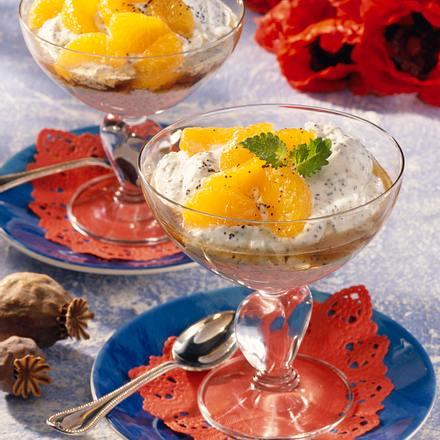 Mandarinen-Mohn-Becher Rezept