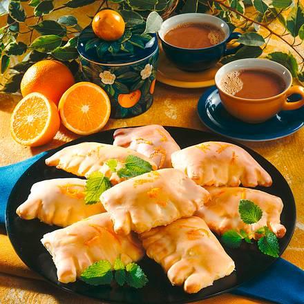 Mandarinen-Taschen mit Guss Rezept
