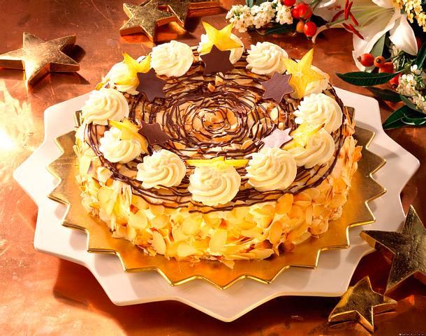 Mandarinen-Torte mit Schoko-Sternen Rezept