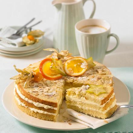 Mandel-Buttercreme-Torte Rezept