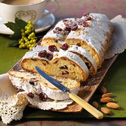 Mandel-Cranberry-Stollen Rezept