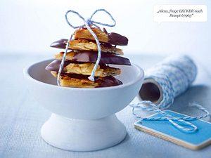 Mandel-Florentiner mit Schokolade Rezept