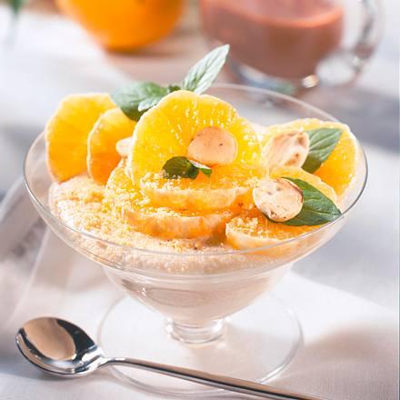 Mandel-Grieß mit Mandarinen Rezept