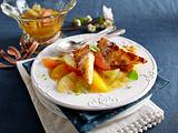 Mandel-Grießschnitten mit Zitrussalat Rezept
