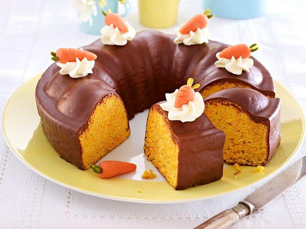 Mandel-Möhrenkuchen mit Schokoguss Rezept