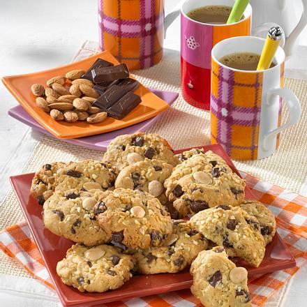 mandel schoko cookies rezept chefkoch rezepte auf kochen backen und schnelle gerichte. Black Bedroom Furniture Sets. Home Design Ideas