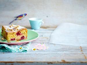 Mandelkuchen mit Himbeeren Rezept