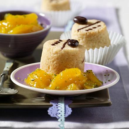 Mandeltörtchen mit Aprikosen-Kompott Rezept