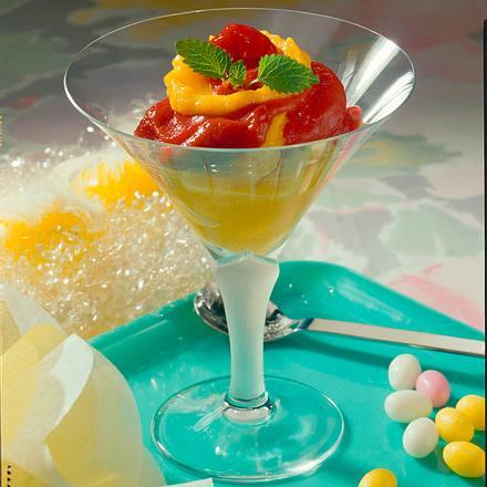 Mango-Himbeer-Sorbet Rezept