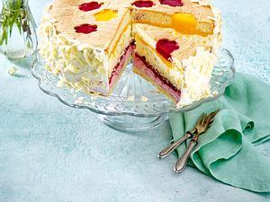 Mango-Himbeer-Torte mit weißer Schokolade Rezept