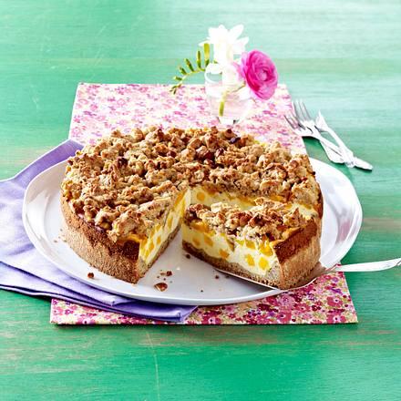 Mango-Käsekuchen mit Nussstreuseln Rezept