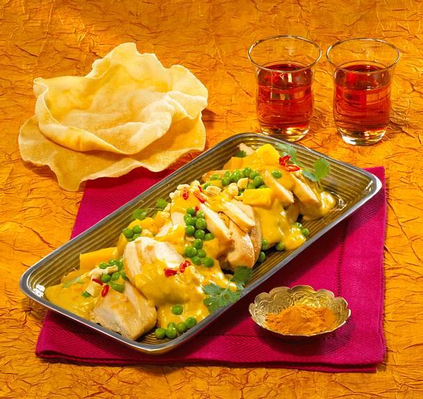 Mango-Kokos-Huhn mit Korianderpesto Rezept