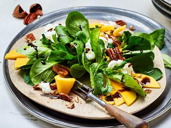 Mango-Mozzarella auf Feldsalat Rezept