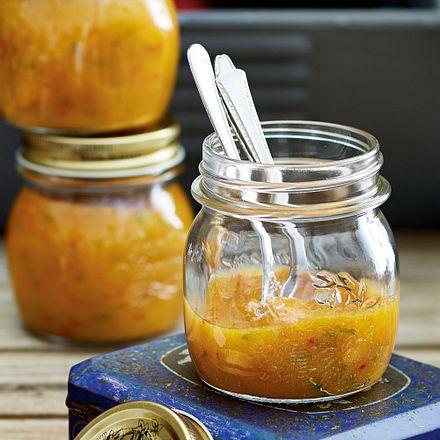 Mango-Pfirsich-Minz-Aufstrich Rezept